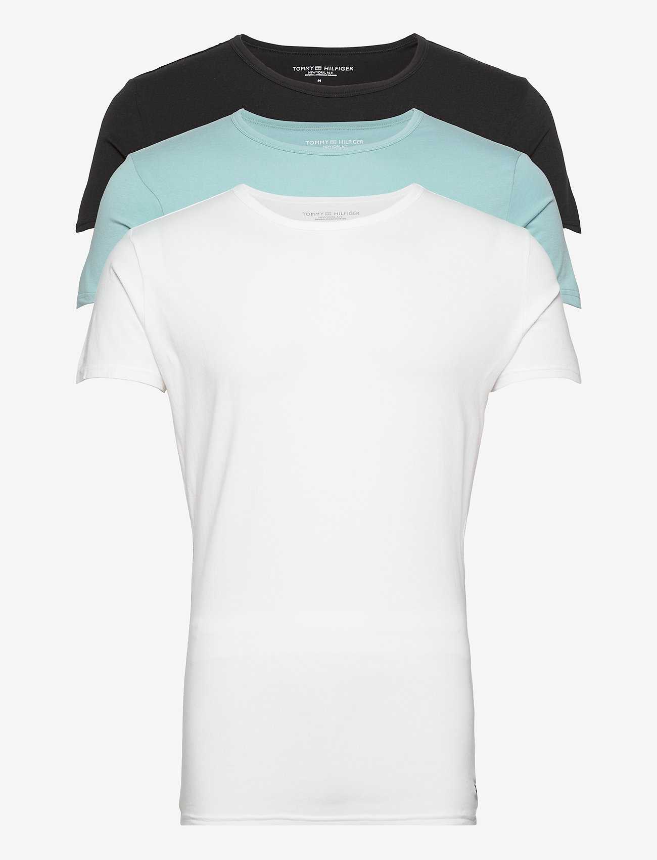 Tommy Hilfiger - STRETCH CN TEE SS 3PACK - multipack - black/sumit/white - 0