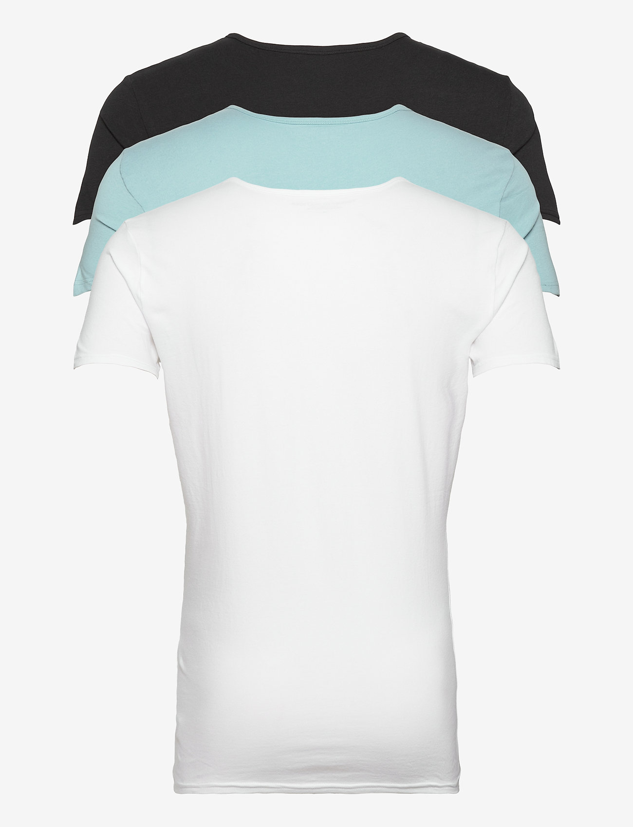 Tommy Hilfiger - STRETCH CN TEE SS 3PACK - multipack - black/sumit/white - 1