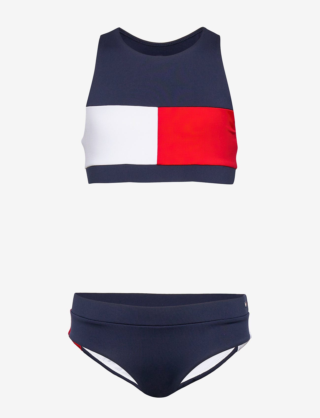 Tommy Hilfiger - CROP TOP SET - bikinis - pitch blue 654-870