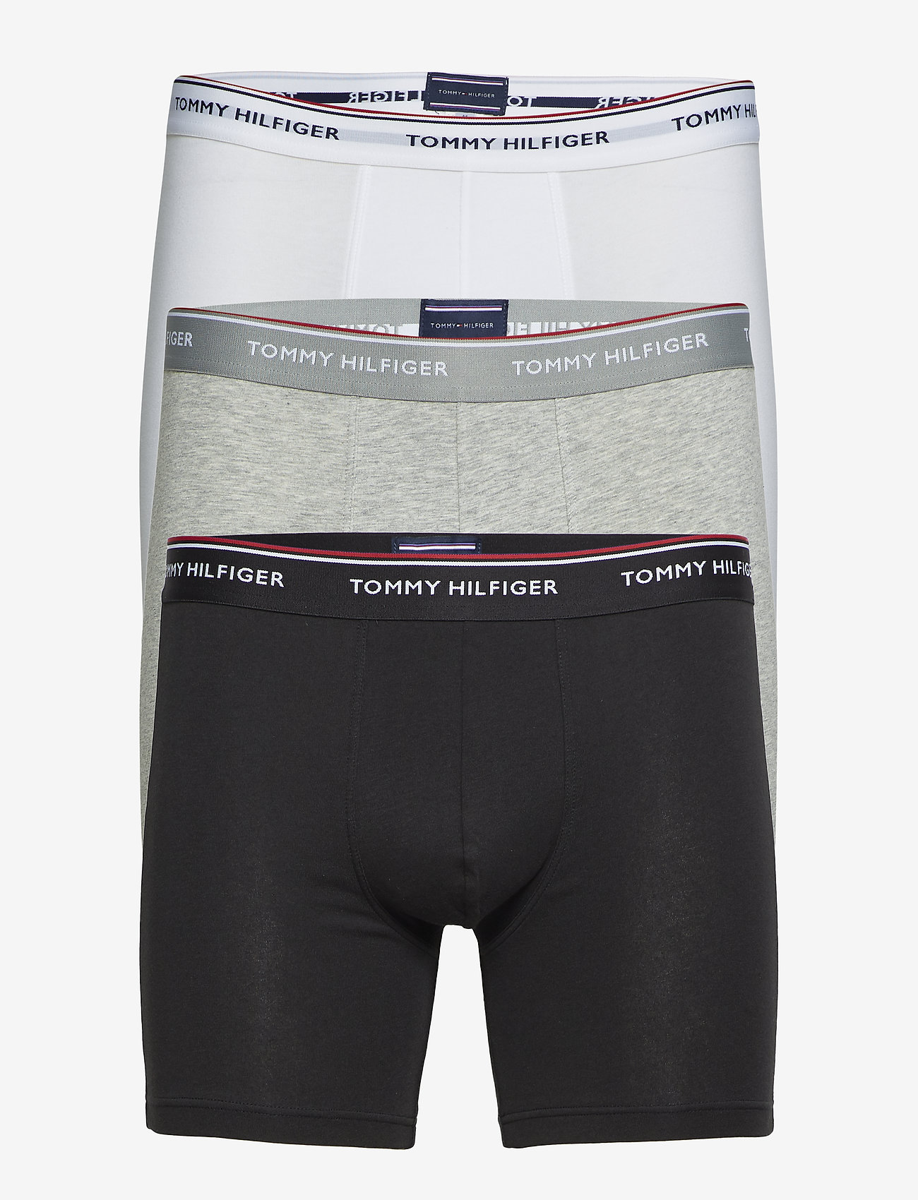 Tommy Hilfiger - 3P BOXER BRIEF - caleçon - grey heather - 0
