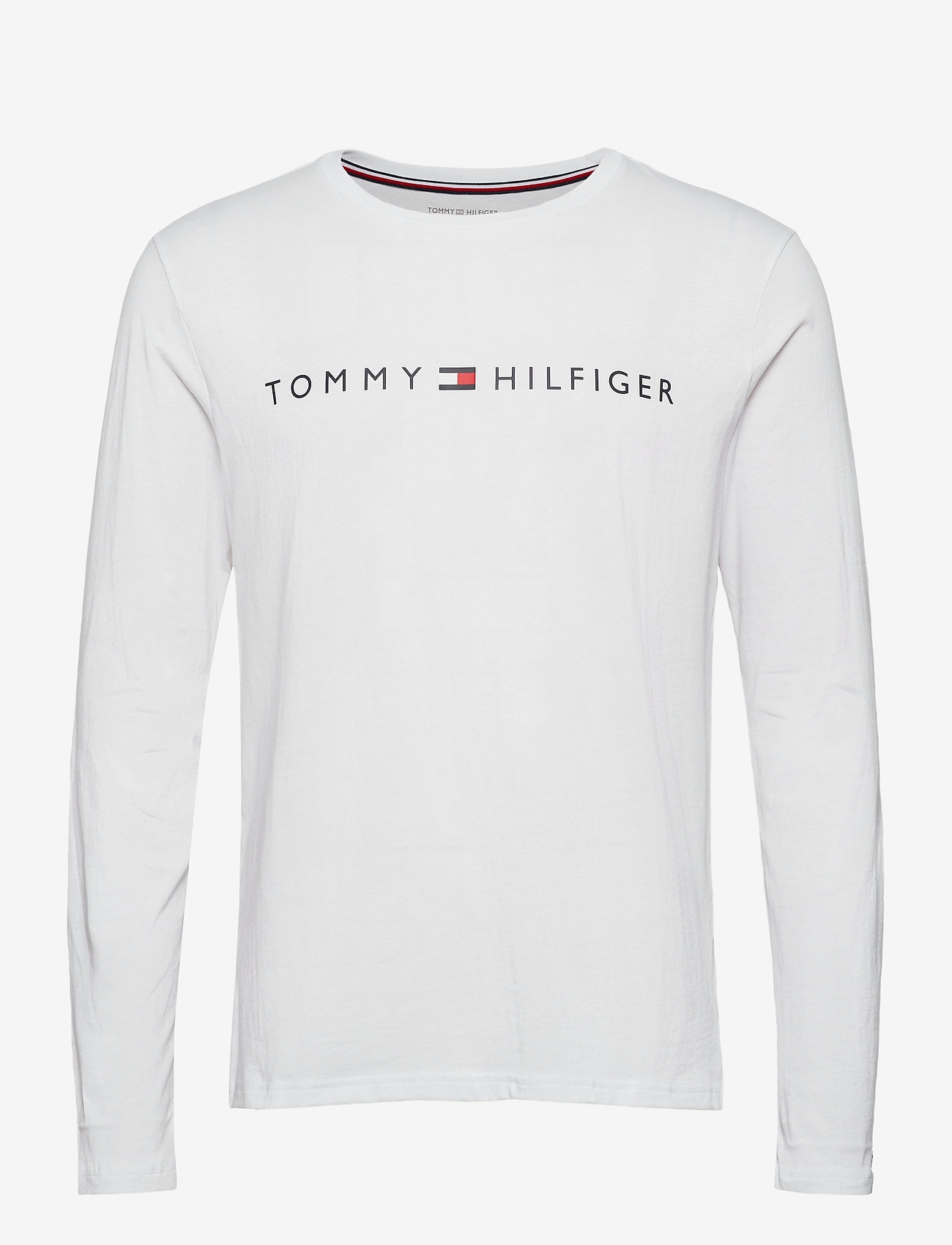 Tommy Hilfiger - CN LS TEE LOGO - long-sleeved t-shirts - white - 0