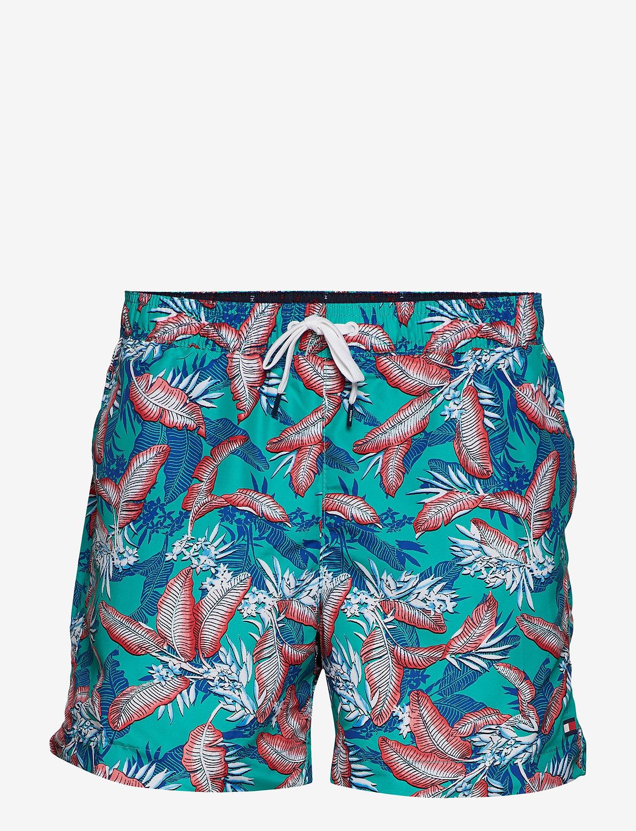 Tommy Hilfiger - MEDIUM DRAWSTRING, 6 - shorts de bain - tropic leaf spectra green - 0
