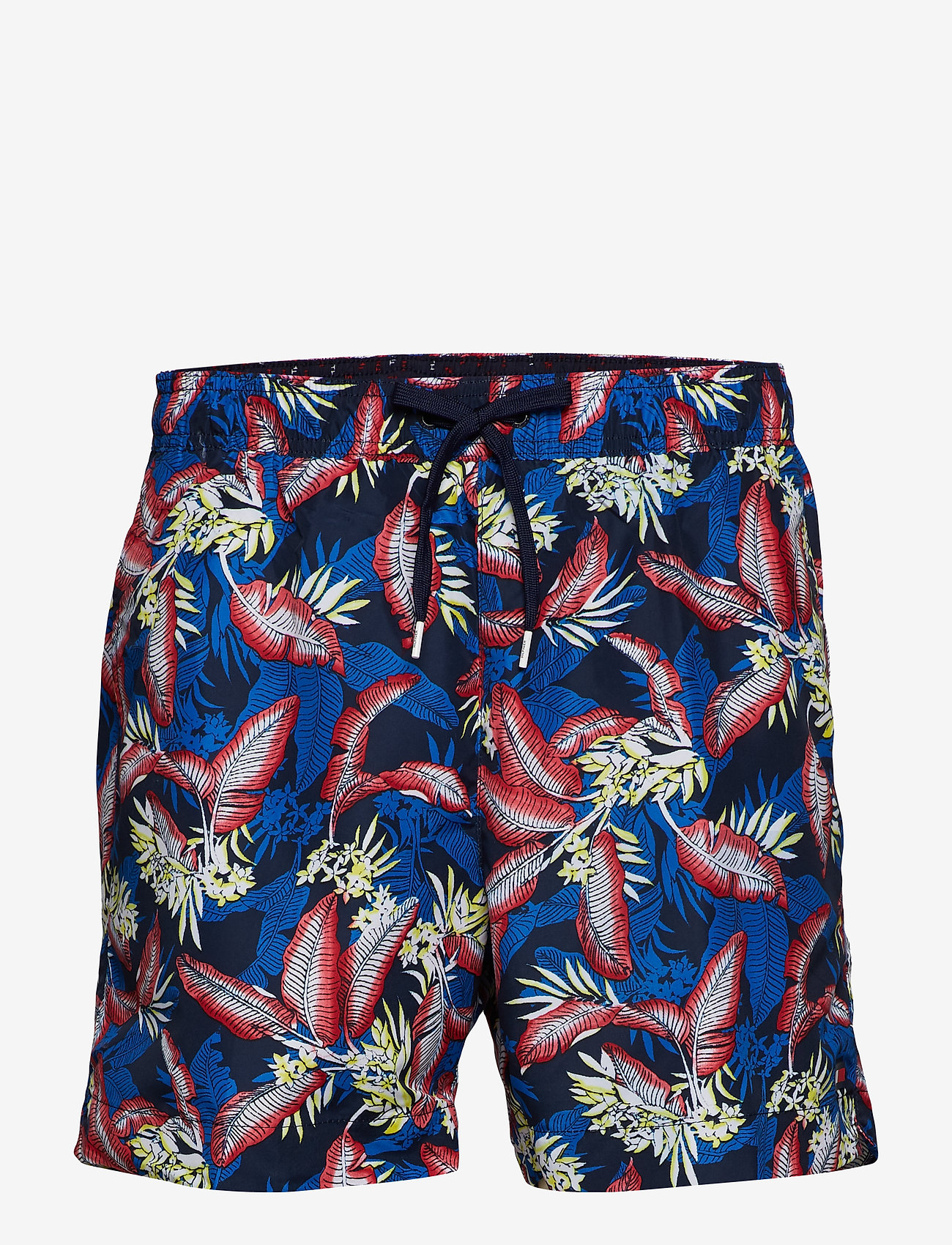 Tommy Hilfiger - MEDIUM DRAWSTRING, 6 - swim shorts - tropic leaf navy blazer - 0