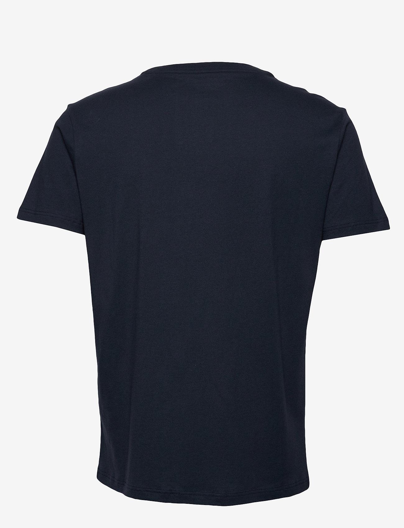 Tommy Hilfiger - CN SS TEE LOGO FLAG - short-sleeved t-shirts - navy blazer - 1