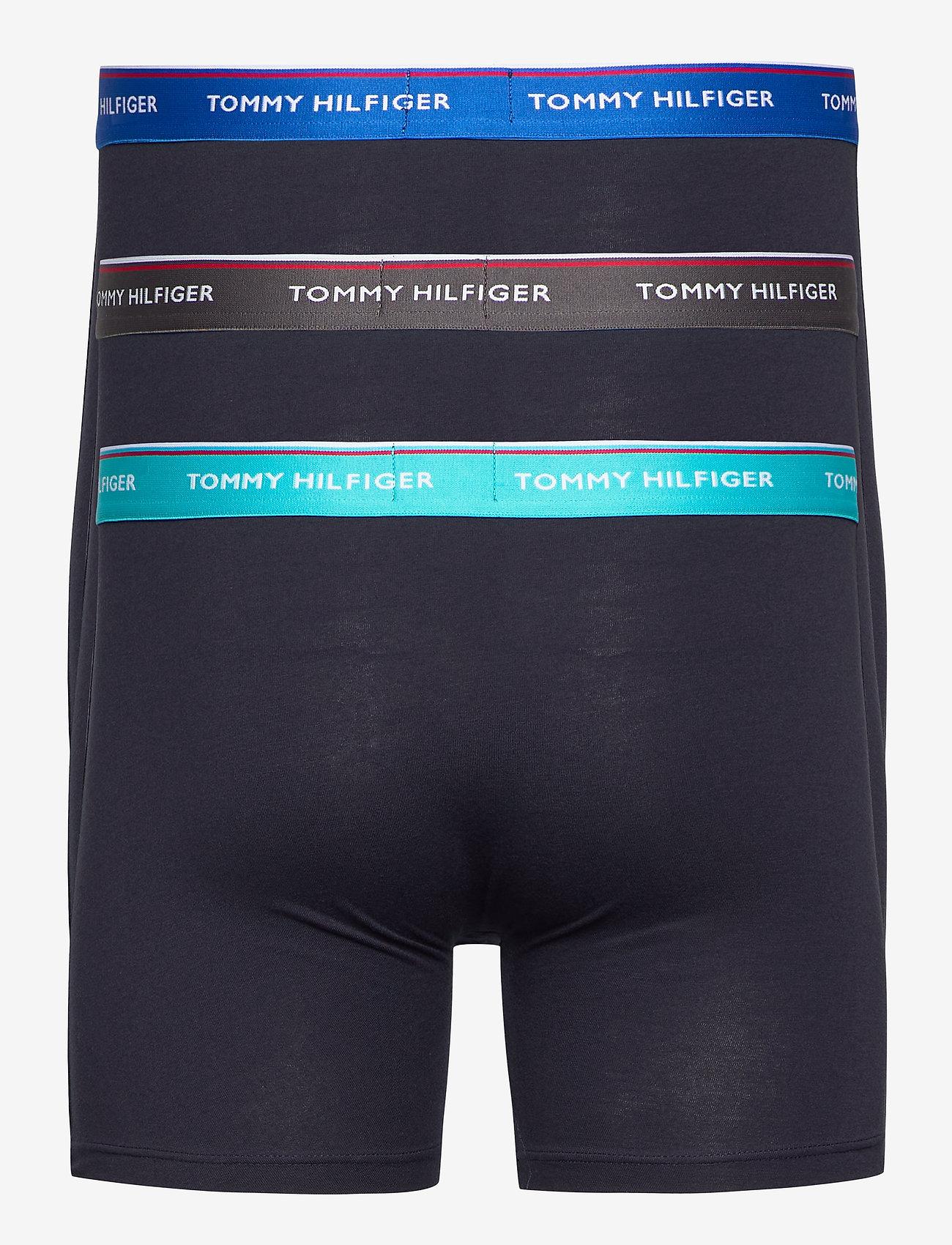 Tommy Hilfiger - 3P WB BOXER BRIEF - boxers - dark ash/aquatic teal/electric - 1