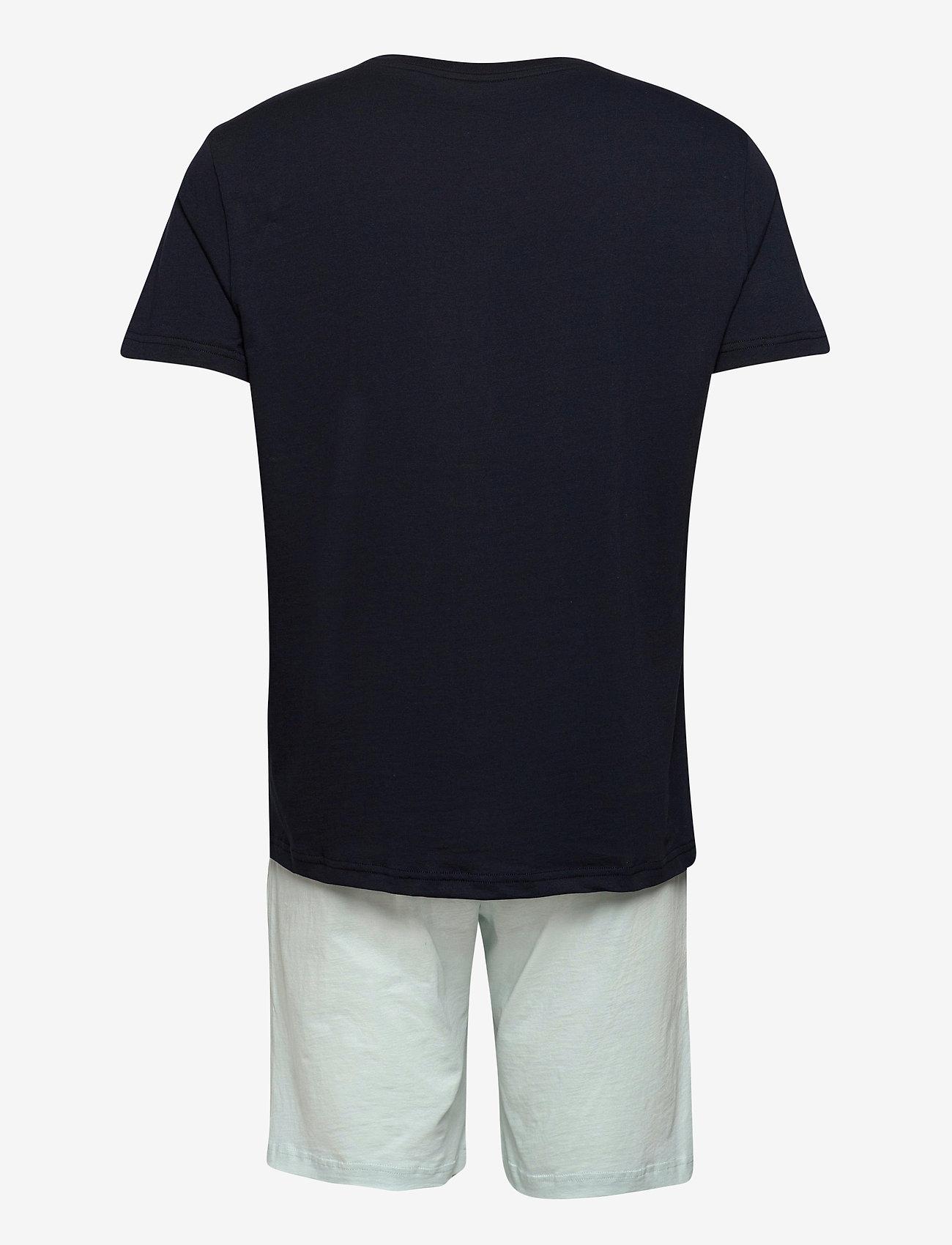 Tommy Hilfiger - CN SS SHORT JERSEY SET - pyjamas - desert sky/luminous blue - 1