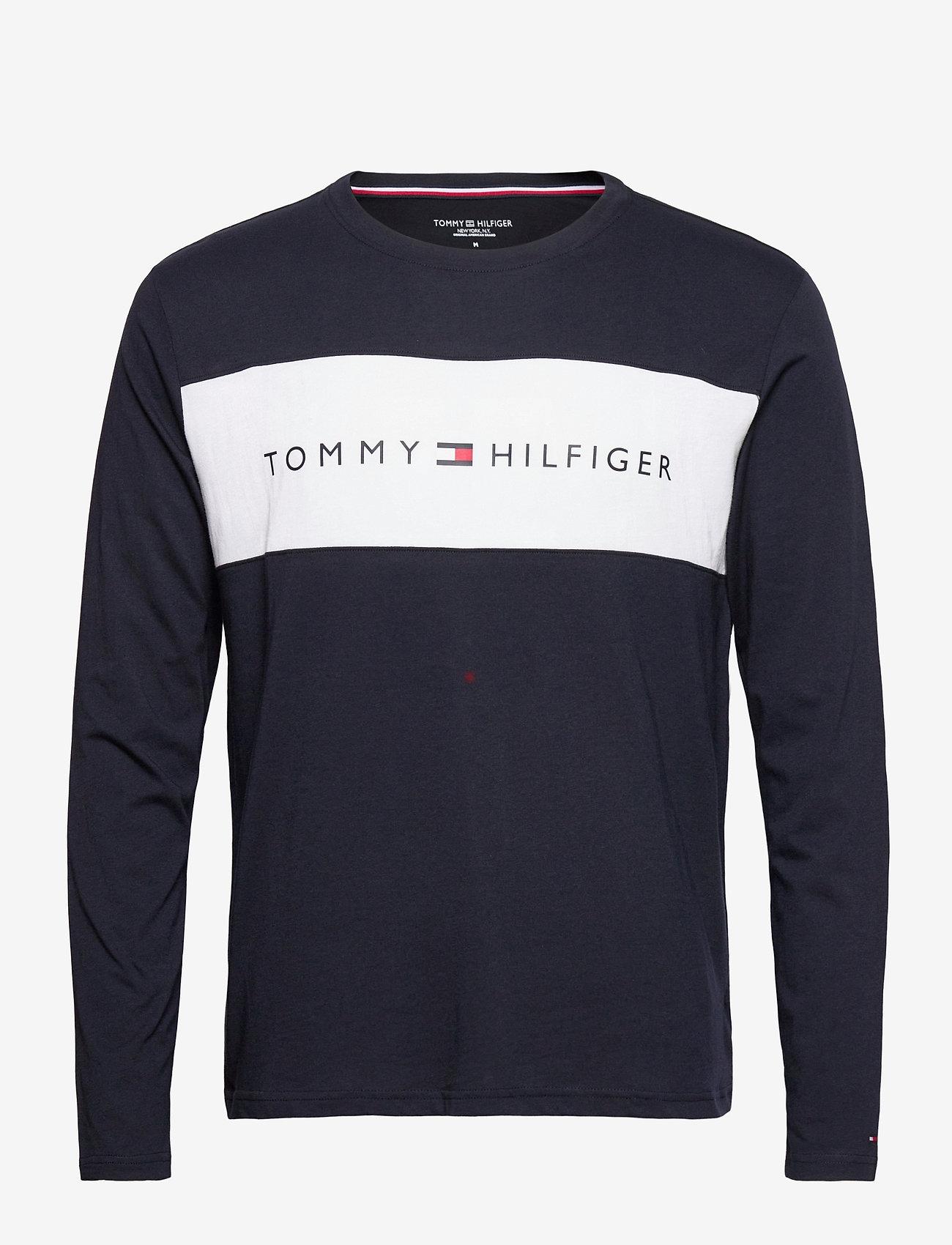 Tommy Hilfiger - CN LS TEE LOGO FLAG - long-sleeved t-shirts - desert sky - 0