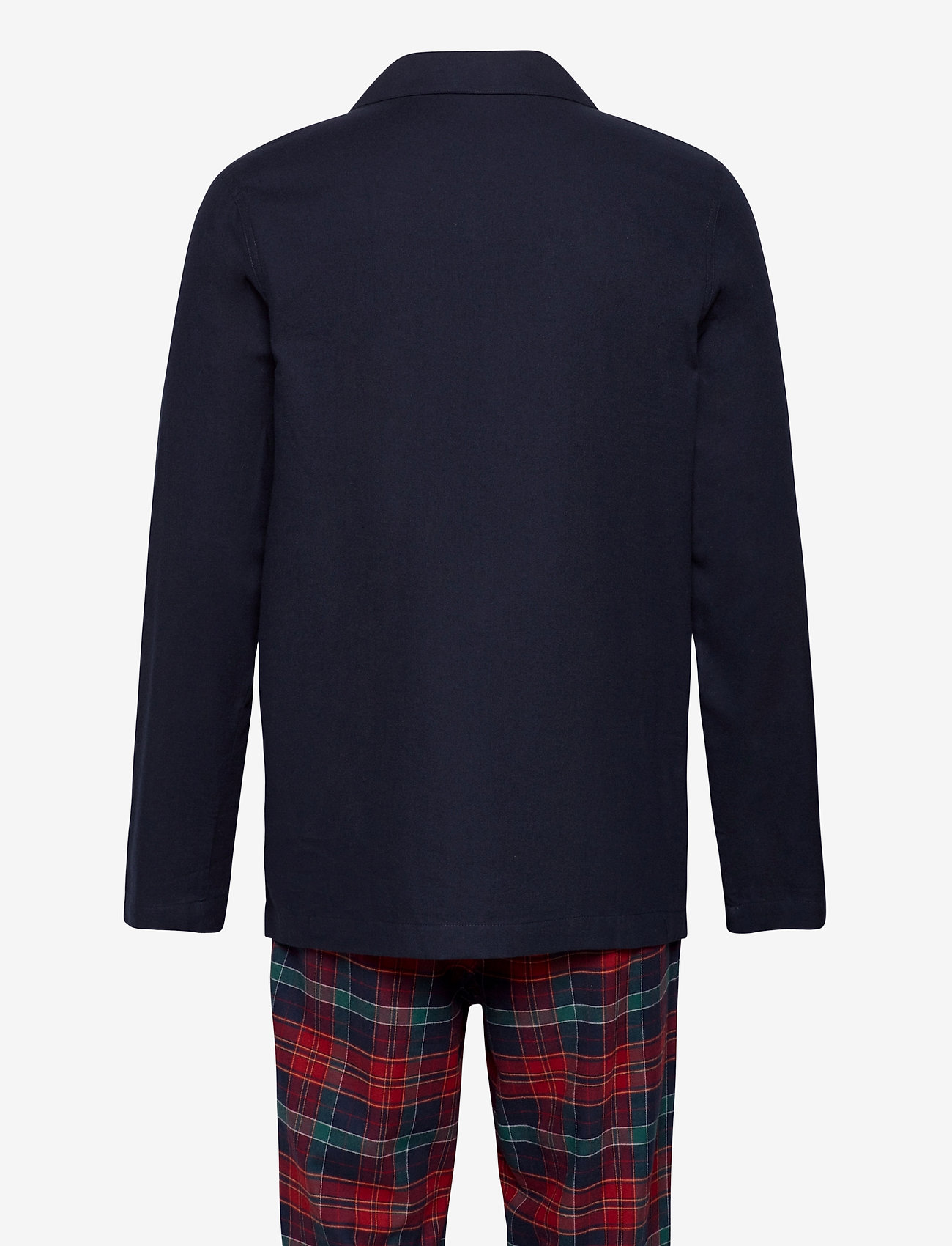 Tommy Hilfiger - LS PANT FLANNEL SHIRT SET - pyjamas - desert sky / regatta red - 1