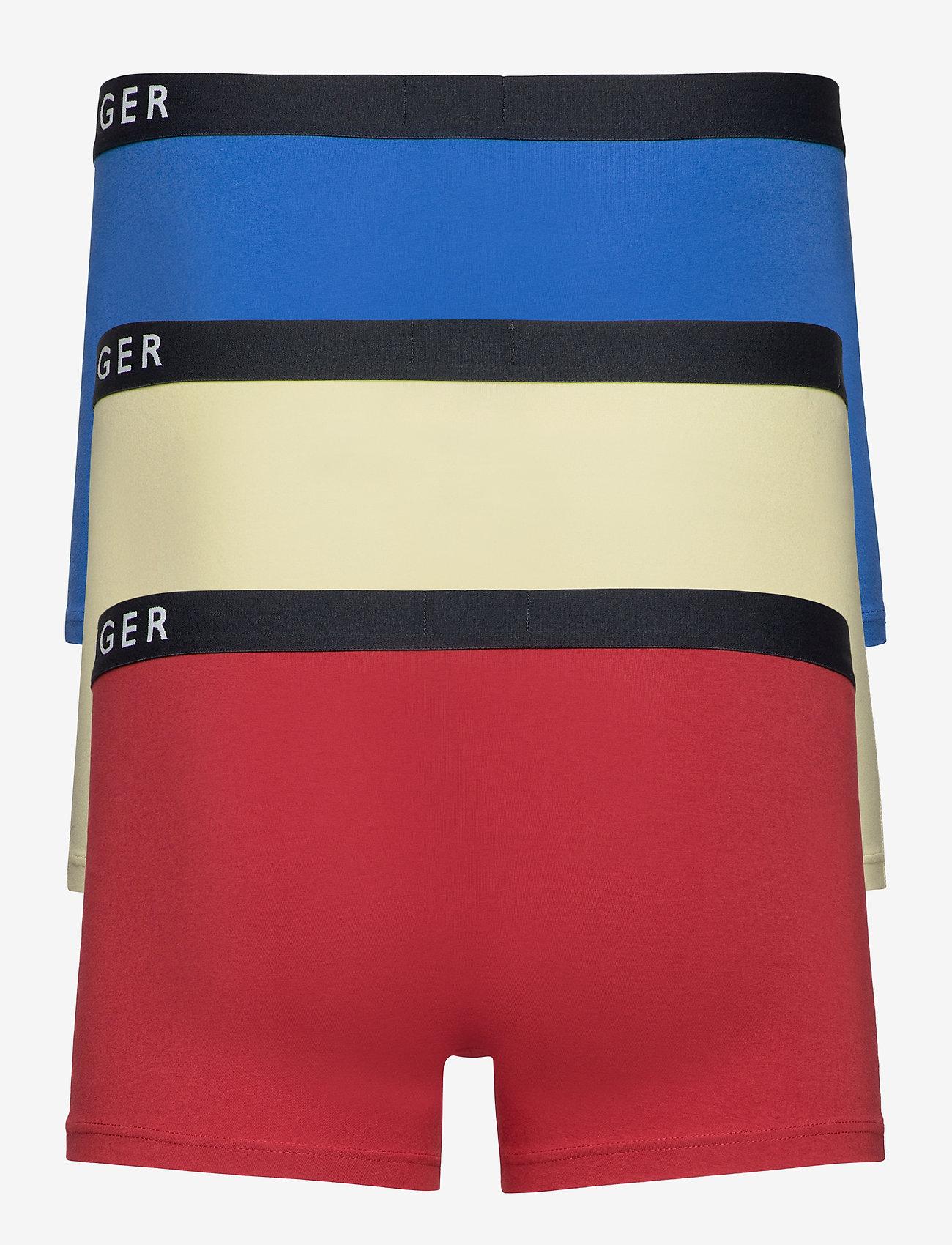 Tommy Hilfiger - 3P TRUNK - caleçon - frost lmn/regata red/th elctc blue - 1