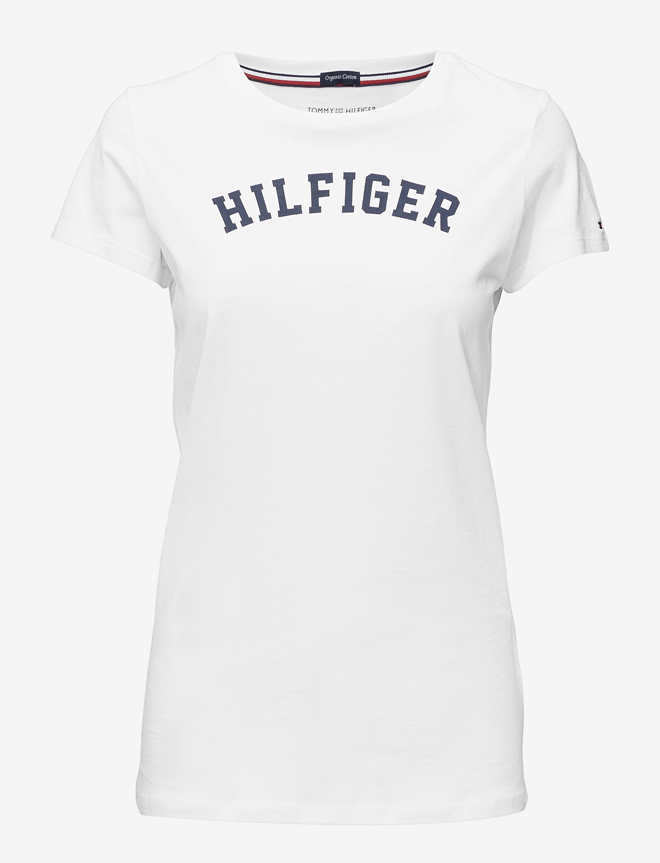 Tommy Hilfiger - SS TEE PRINT - logo t-shirts - white - 0