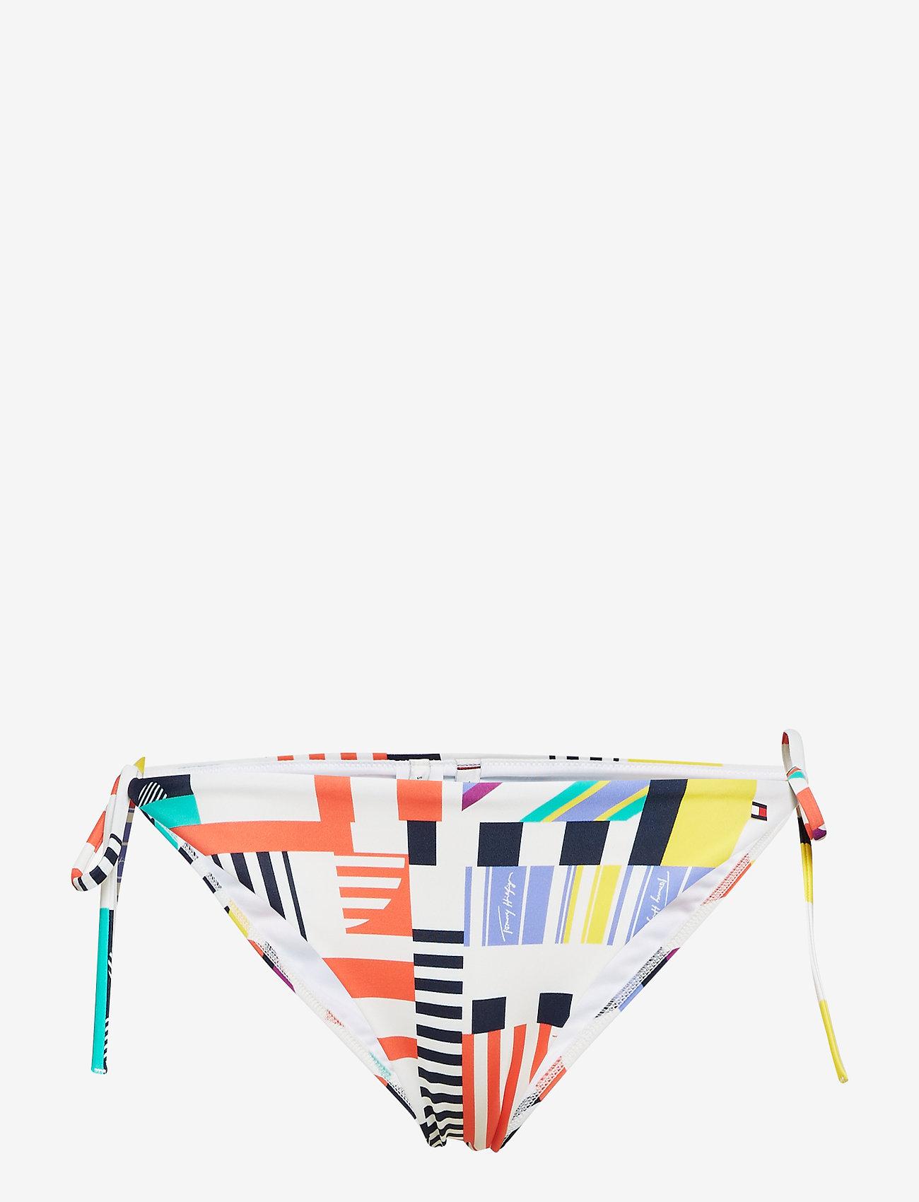 Tommy Hilfiger - CHEEKY STRING SIDE TIE BIKINI - bikini bottoms - memphis prt