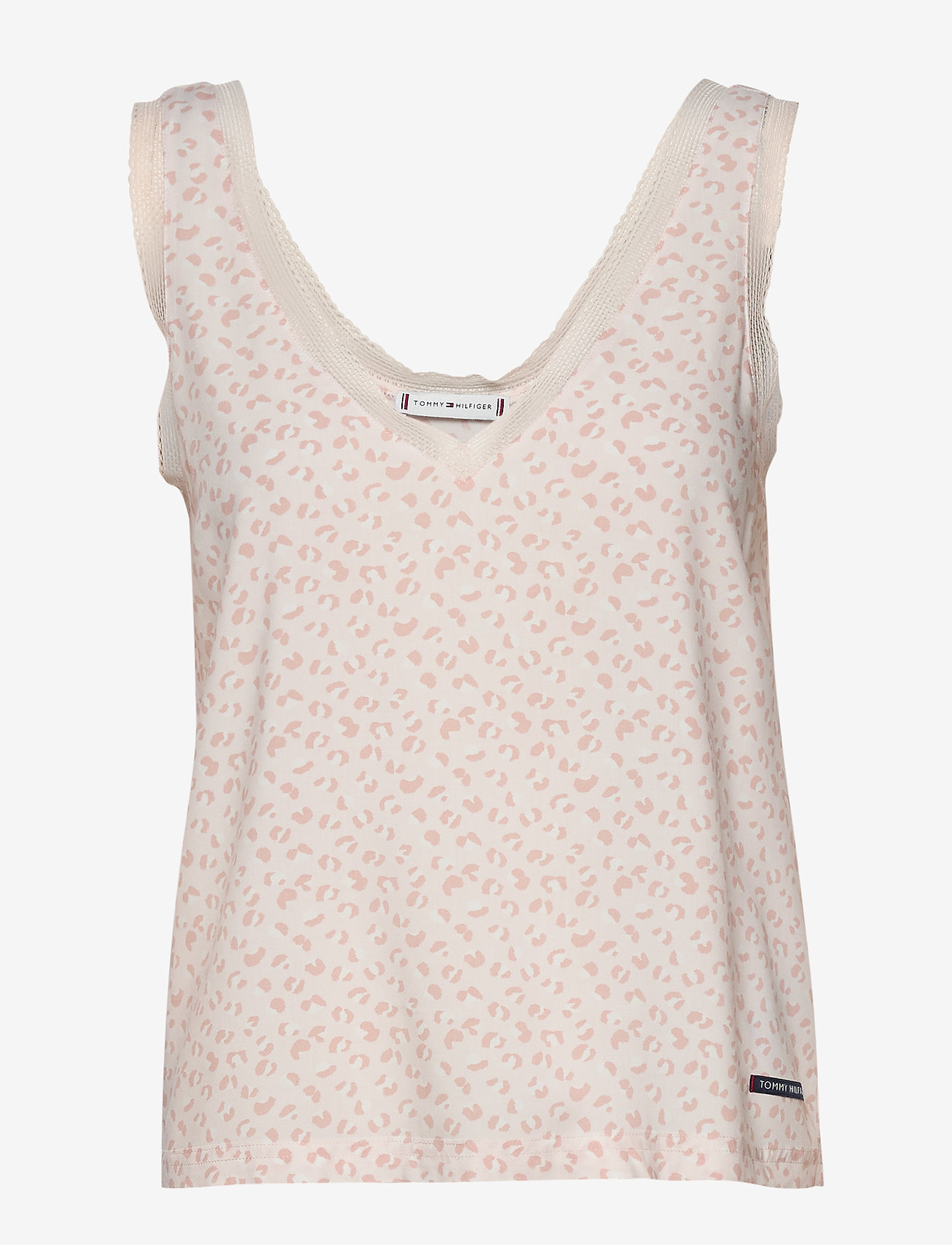 Tommy Hilfiger - WOVEN CAMI PRINT - overdele - pale blush - 0