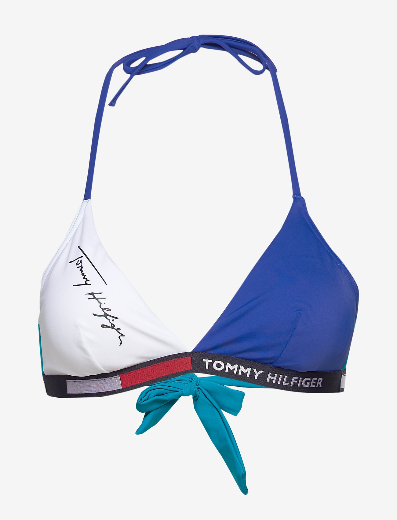 Tommy Hilfiger - FIXED TRIANGLE RP - bikini tops - azure - 0