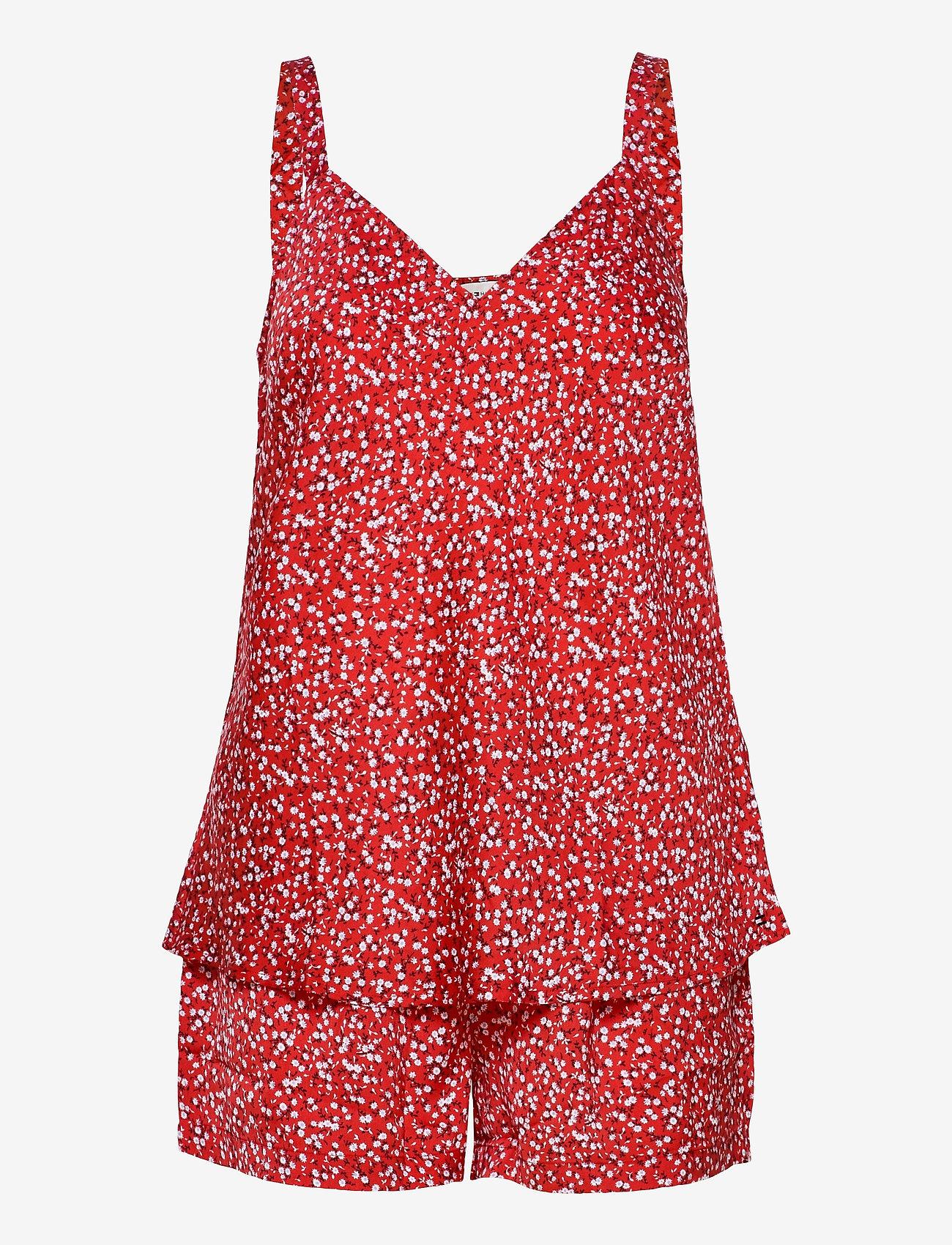 Tommy Hilfiger - CAMI SHORT SET PRINT - pyjama''s - primary red - 0