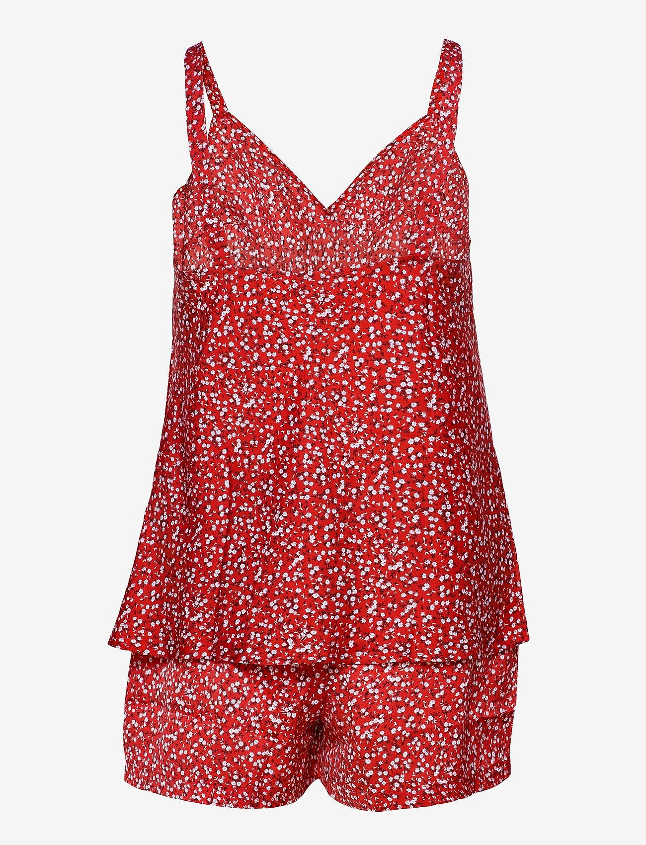Tommy Hilfiger - CAMI SHORT SET PRINT - pyjama''s - primary red - 1