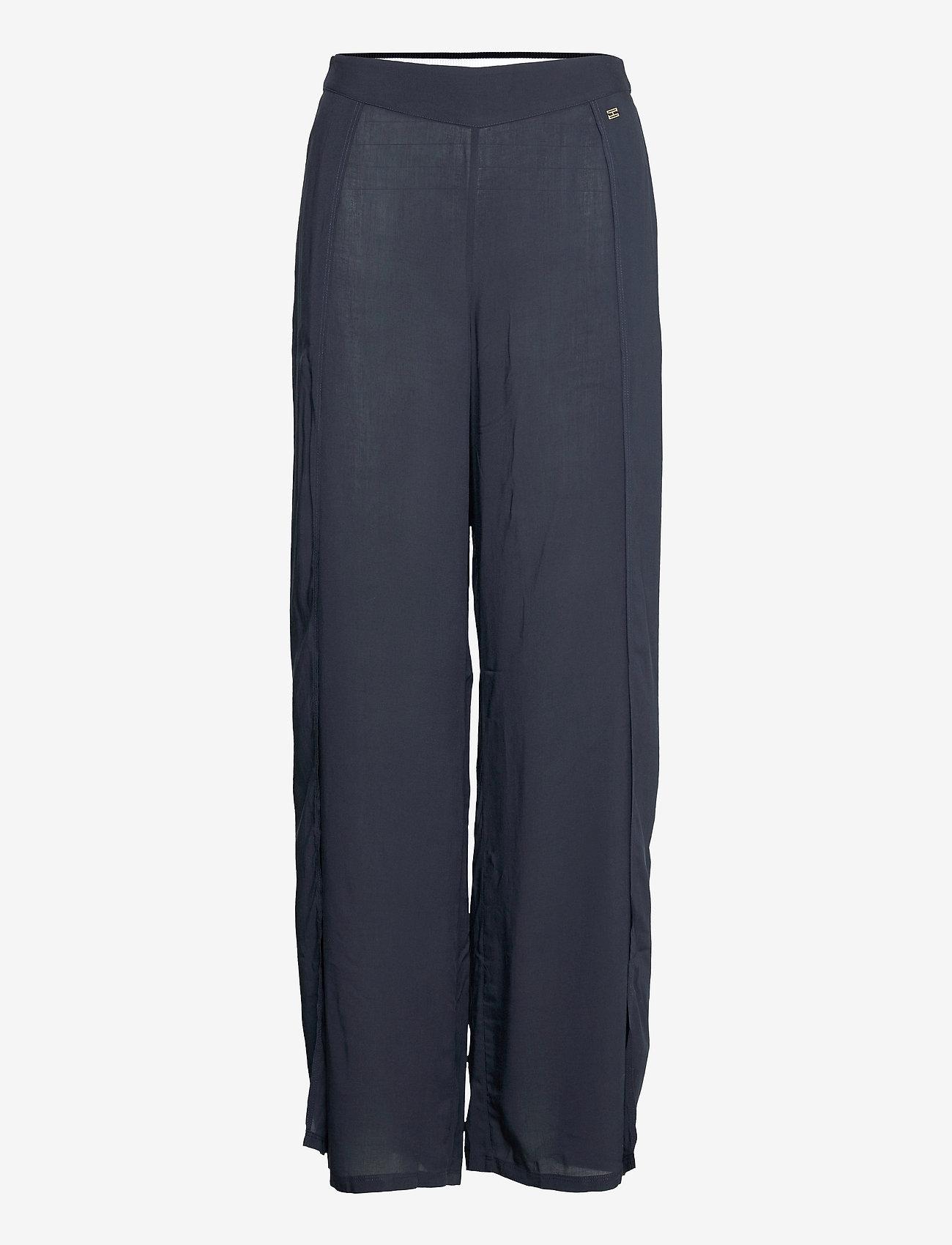 Tommy Hilfiger - LONG PANTS - bukser med brede ben - desert sky - 0