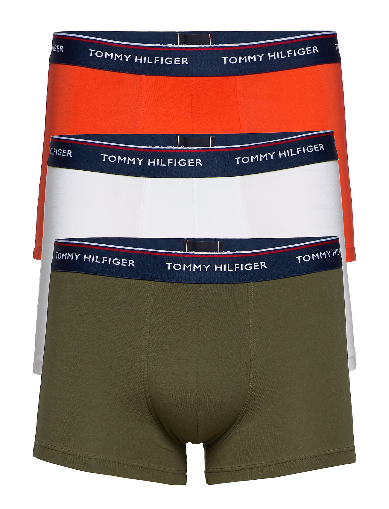Tommy Hilfiger Trunk 3 pack premium essentials - GRAPELEAF/FIESTA/PVHWHITE
