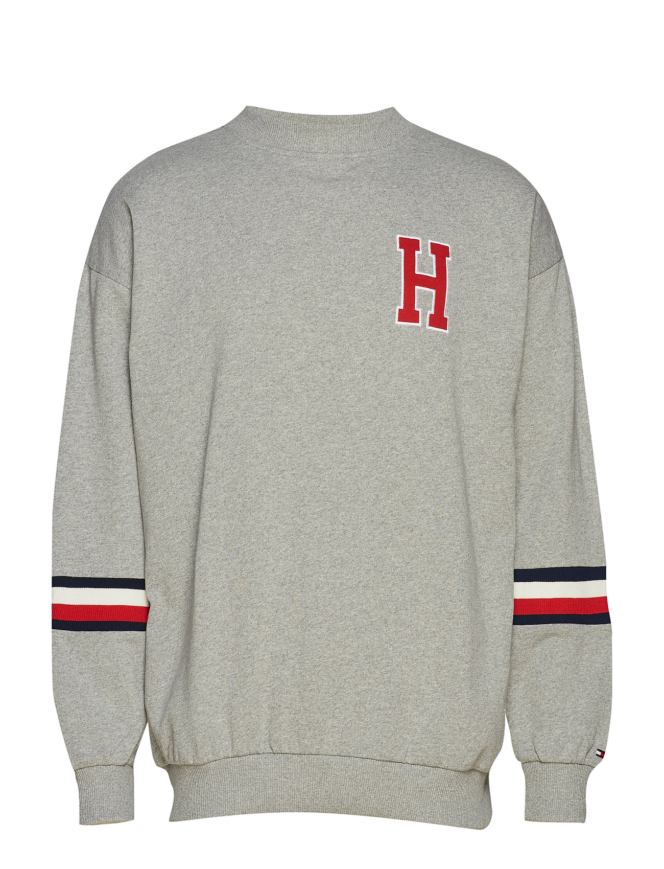 Tommy Hilfiger TRACK TOP LS - GREY HEATHER