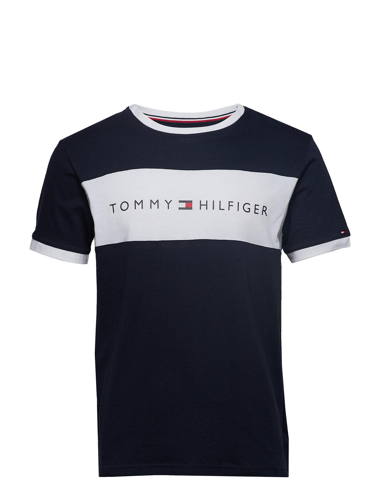 Tommy Hilfiger CN SS TEE LOGO FLAG - NAVY BLAZER