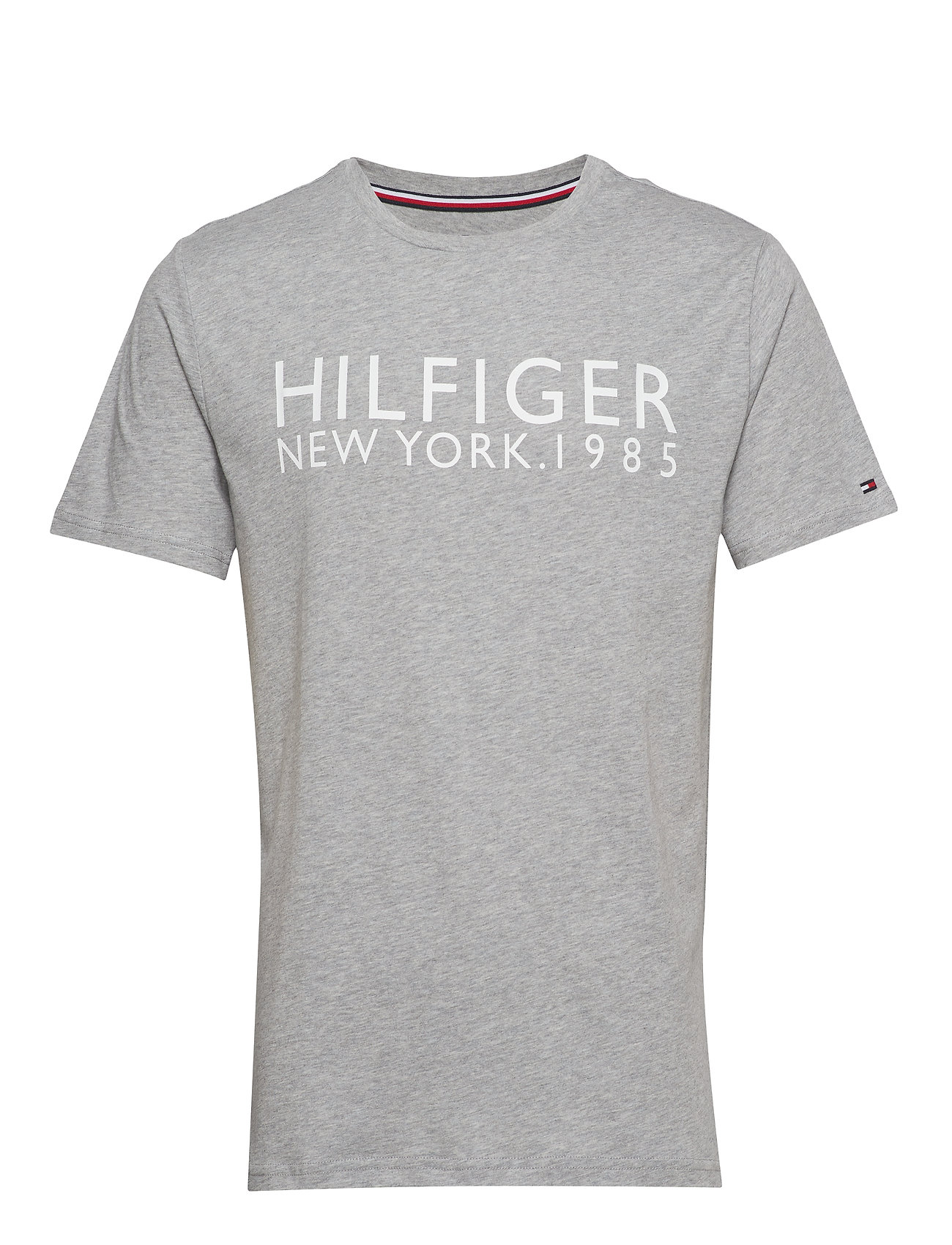 Tommy Hilfiger CN SS TEE LOGO - GREY HEATHER