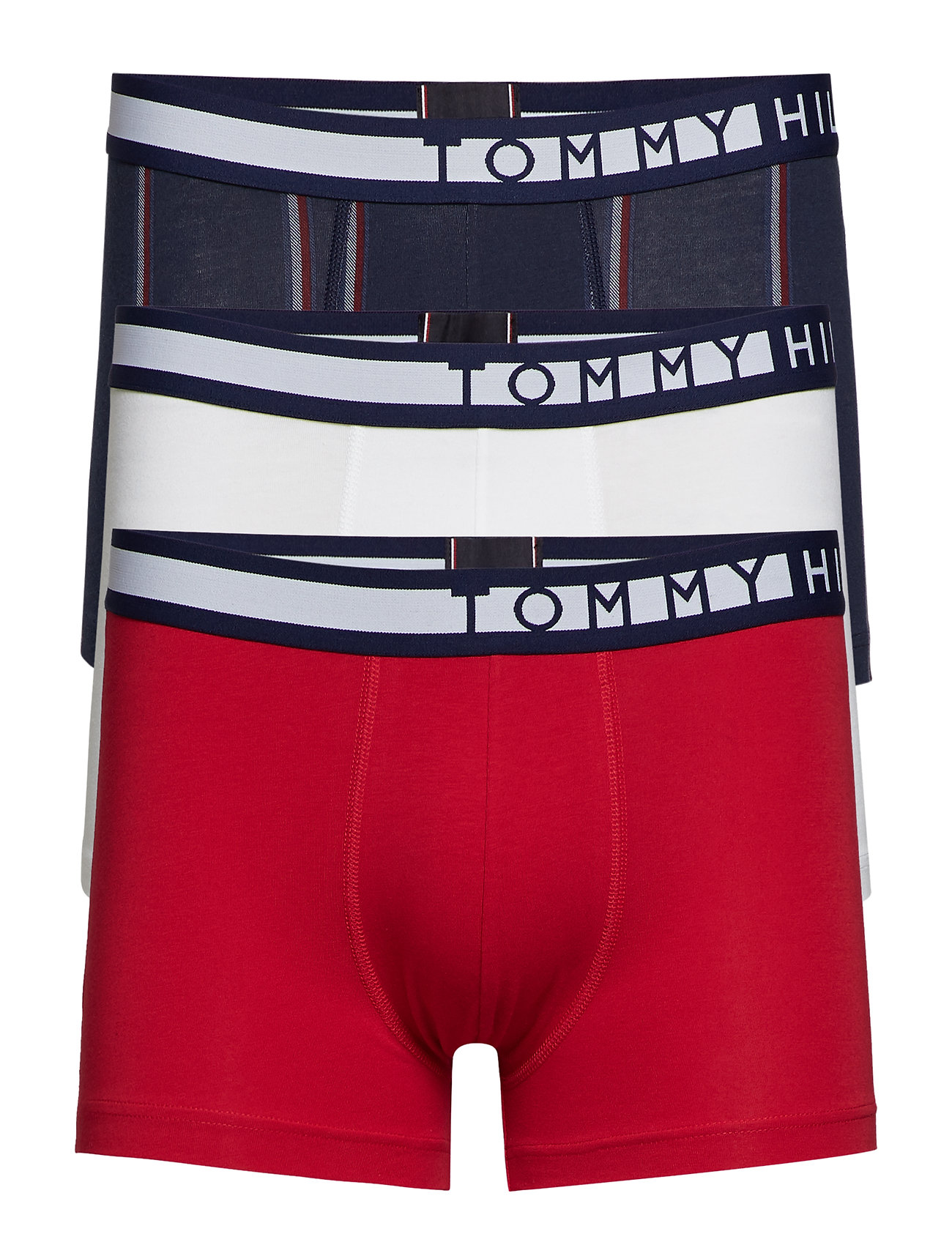 Tommy Hilfiger 3P TRUNK STRIPE - TANGO RED / WHITE / NAVY BLAZE