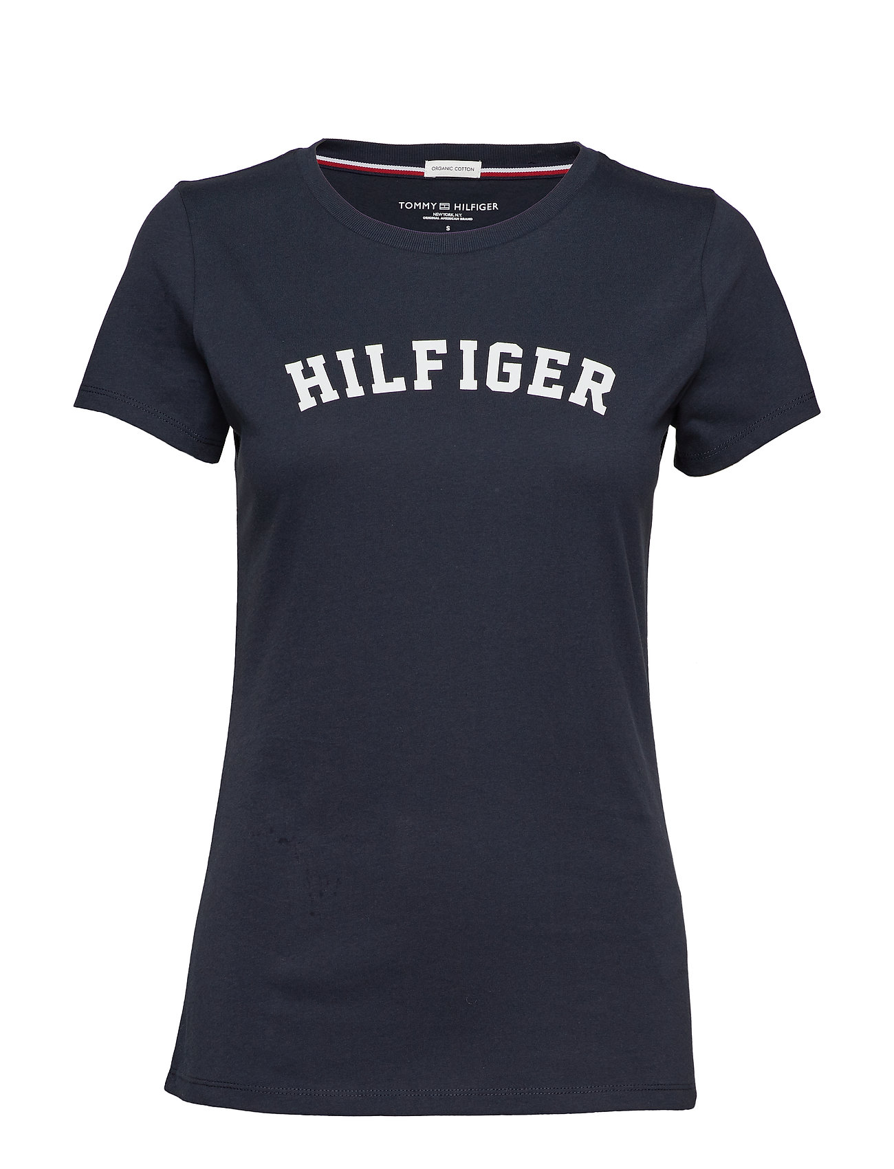 Image of Ss Tee Print T-shirt Top Blå Tommy Hilfiger (3200533221)