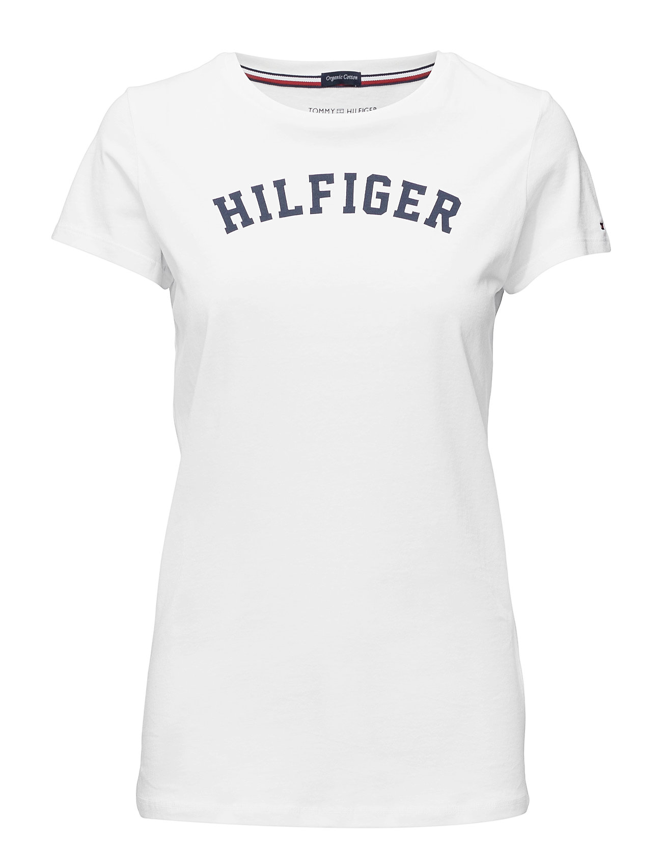 Tommy Hilfiger SS TEE PRINT - WHITE