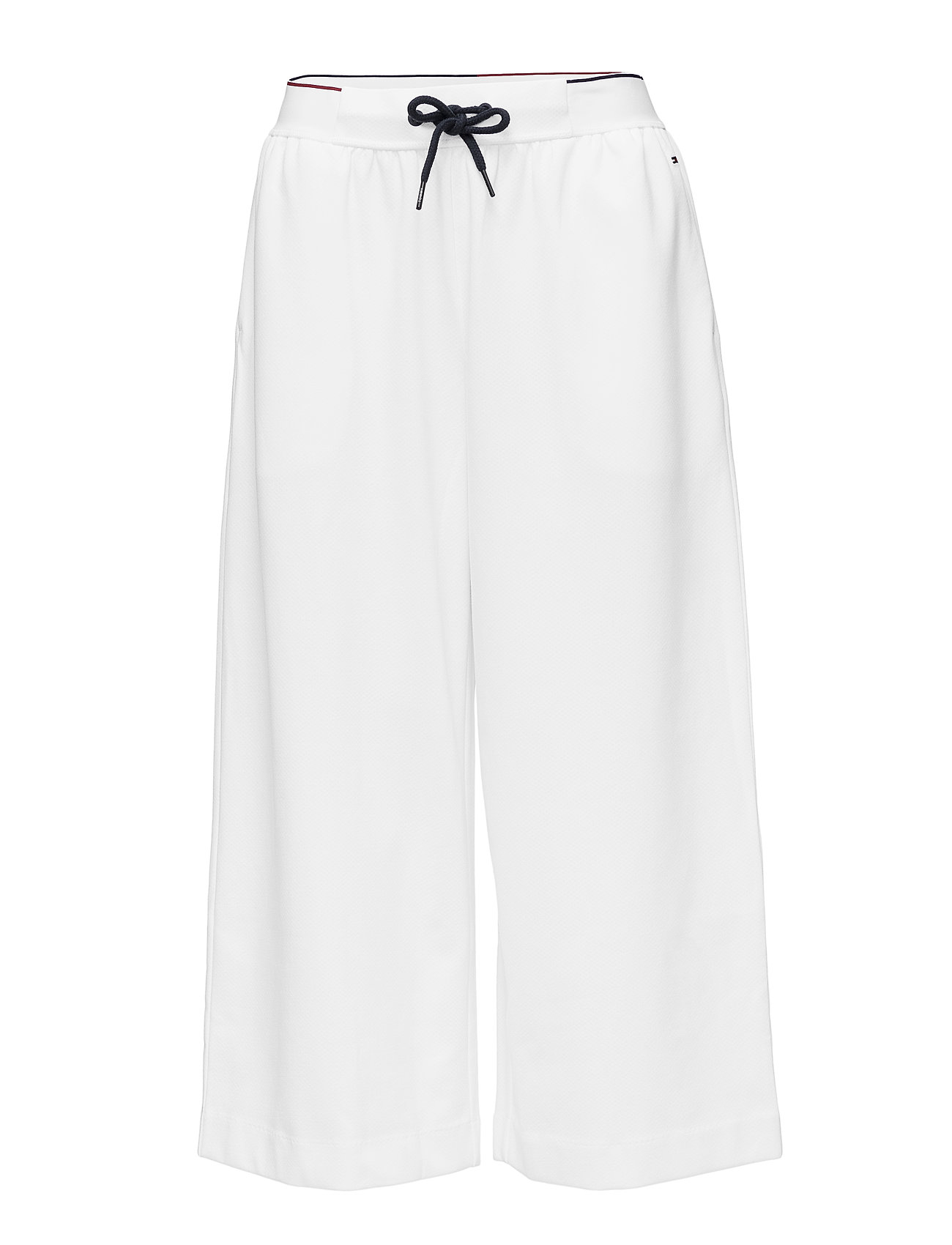 Tommy Hilfiger WIDE LEG CROPPED PAN - WHITE