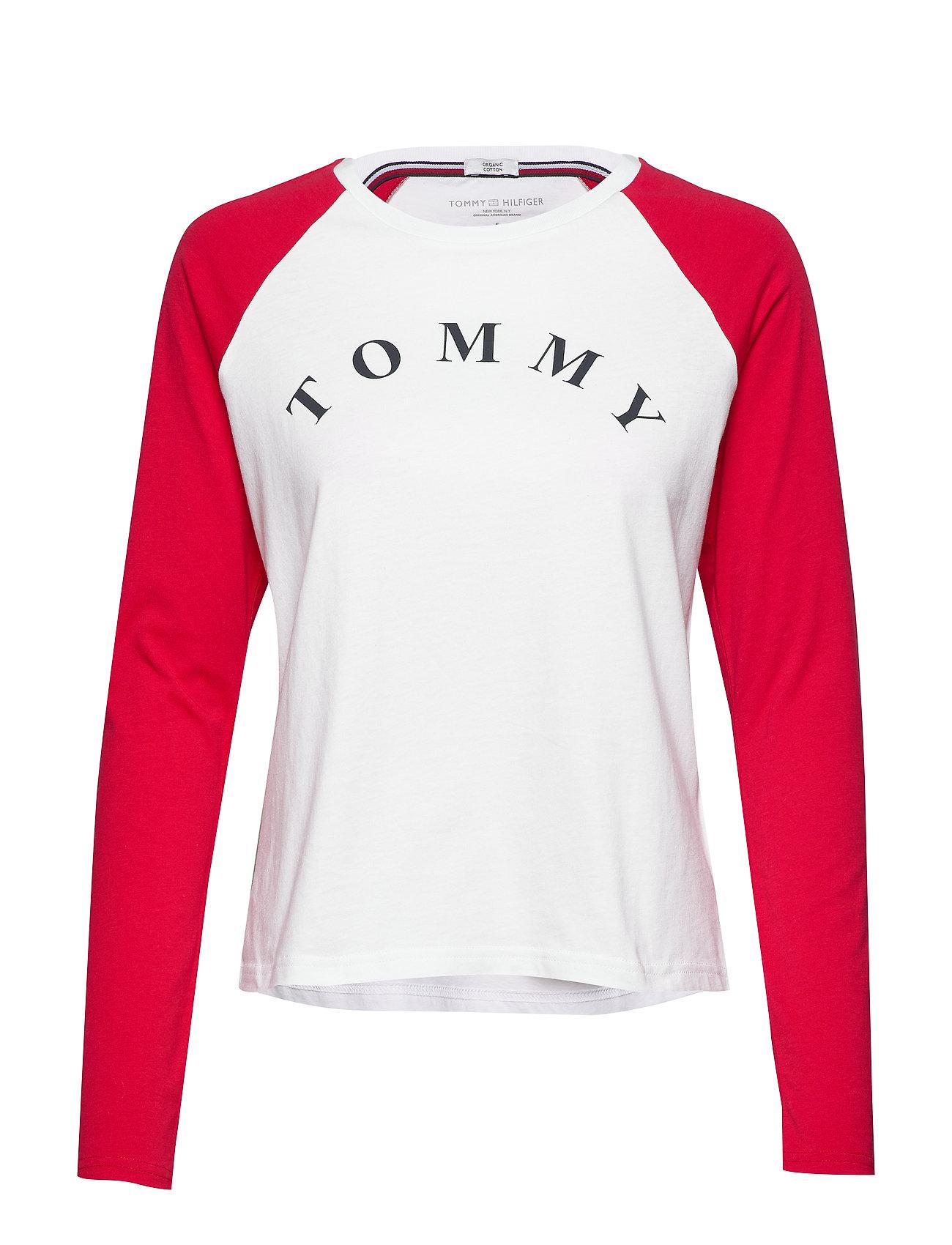 Tommy Hilfiger LS TEE SLOGAN - PVH CLASSIC WHITE