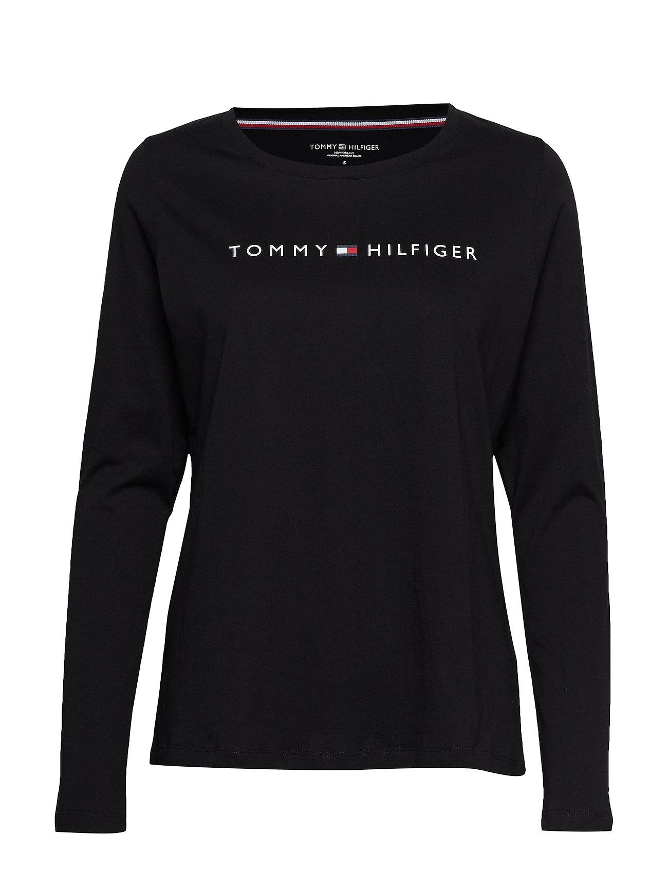 Tommy Hilfiger CN TEE LS LOGO - BLACK