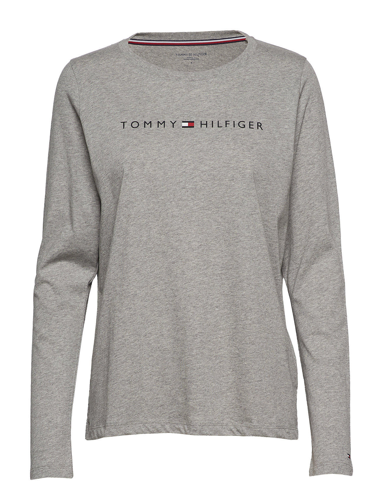 Tommy Hilfiger CN TEE LS LOGO - GREY HEATHER
