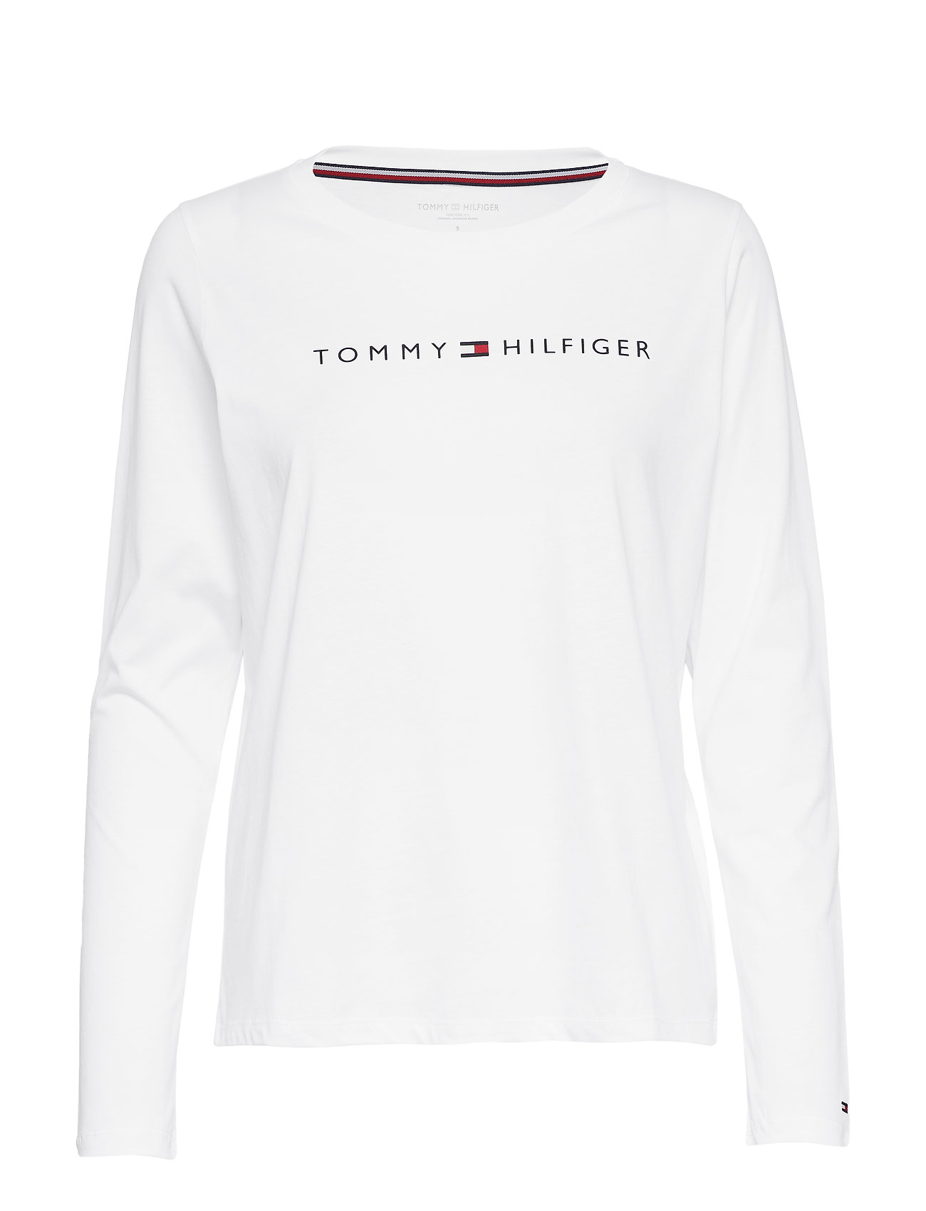 Tommy Hilfiger CN TEE LS LOGO - PVH CLASSIC WHITE