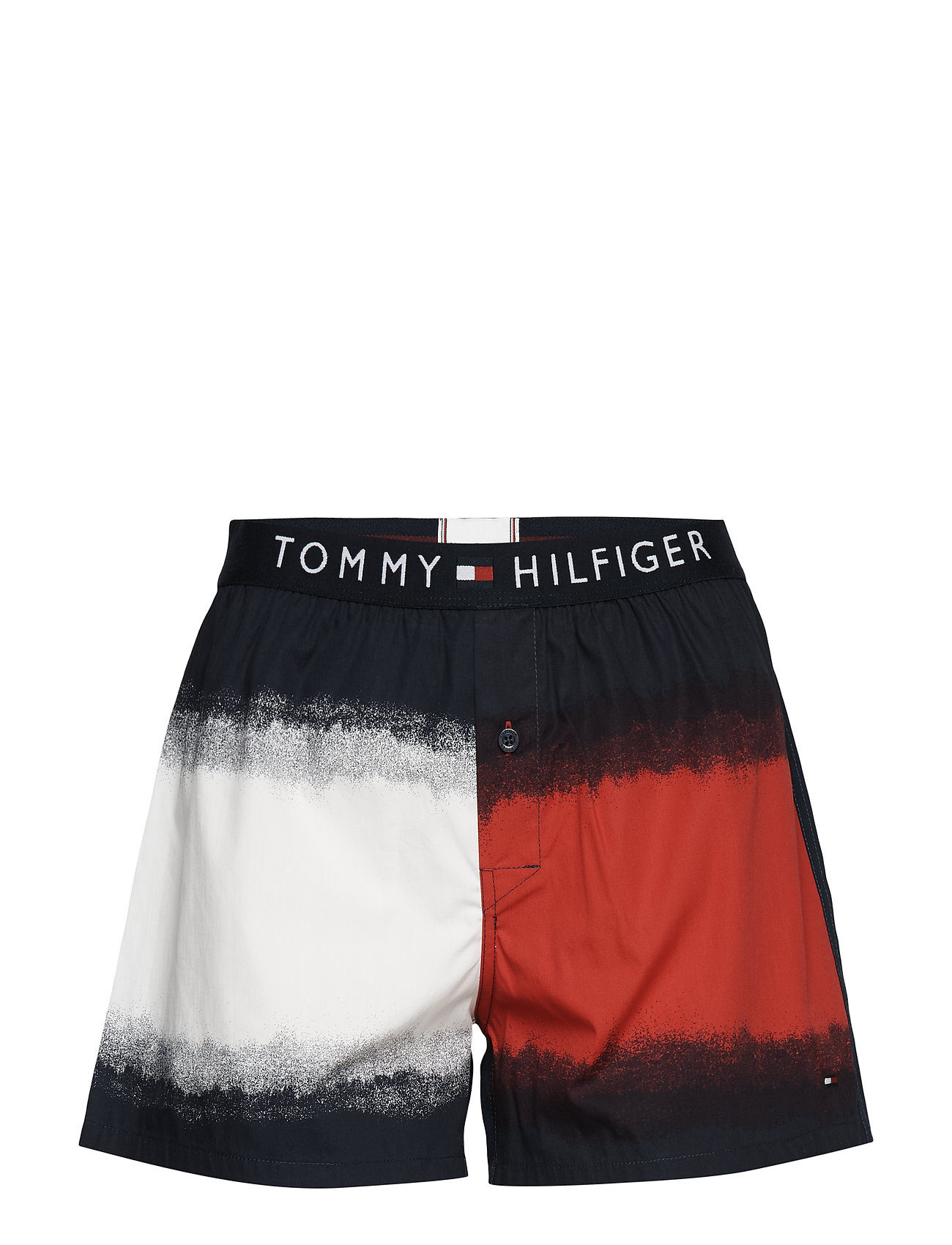 Tommy Hilfiger WOVEN SHORT DIP DYE, - TANGO RED