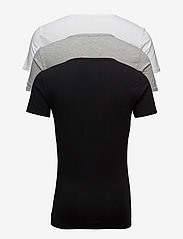 Tommy Hilfiger - STRETCH VN TEE SS 3PACK - t-shirts basiques - black/grey heather/white - 1
