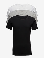 Tommy Hilfiger - Cn tee ss 3 pack pre - multipack - black / grey heather bc05 / wh - 0