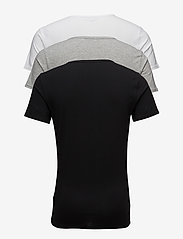 Tommy Hilfiger - Cn tee ss 3 pack pre - multipack - black / grey heather bc05 / wh - 1