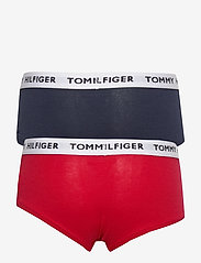 Tommy Hilfiger - 2P SHORTY - bottoms - navyblazer/tangored - 1