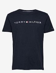 Tommy Hilfiger - CN SS TEE LOGO FLAG - short-sleeved t-shirts - navy blazer - 0
