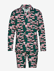 Tommy Hilfiger - LS TOMMY LOGO WOVEN - pyjamas - botanical garden - 0