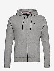 Tommy Hilfiger - FZ HOODIE LWK - basic sweatshirts - grey heather - 0