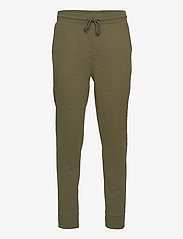 Tommy Hilfiger - TRACK PANT RIB - bottoms - army green - 0