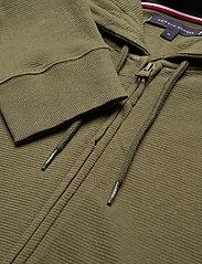 Tommy Hilfiger - HOODIE LS FZ HWK RIB - podstawowe bluzy - army green - 2