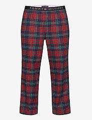 Tommy Hilfiger - LS PANT FLANNEL SHIRT SET - pyjama's - desert sky / regatta red - 2