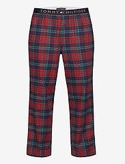 Tommy Hilfiger - LS PANT FLANNEL SHIRT SET - pyjamas - desert sky / regatta red - 2