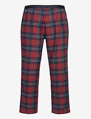Tommy Hilfiger - LS PANT FLANNEL SHIRT SET - pyjamas - desert sky / regatta red - 3