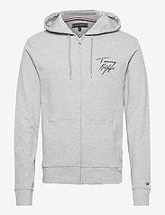 Tommy Hilfiger - FZ HOODIE - hoodies - grey heather - 0