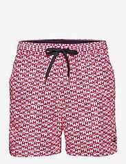 Tommy Hilfiger - MEDIUM DRAWSTRING-PRINT - shorts de bain - th mono geo red - 0