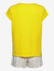 Tommy Hilfiger - SS SHORT SET PRINT - pyjama''s - neon yellow/white - 1