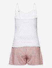 Tommy Hilfiger - CAMI SHORT SET POINTELLE - pyjama''s - white/primary red - 1