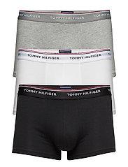 Low rise trunk 3 pack premium ess - BLACK/GREY HEATHER/WHITE